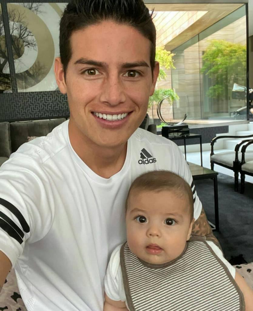 James Rodríguez y su hijo protagonizan divertido momento en Tik Tok