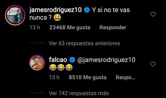 James Rodríguez mensaje Falcao Chile Colombia