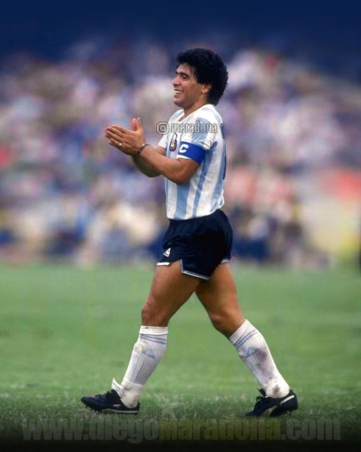 Falcao García Diego Maradona despedida