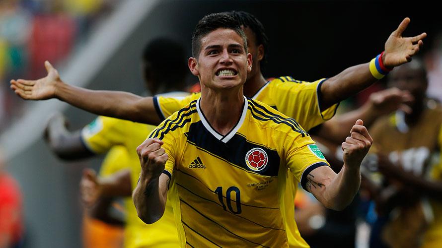 James Rodríguez con la Selección Colombia Mundial 2014. Foto: FCF