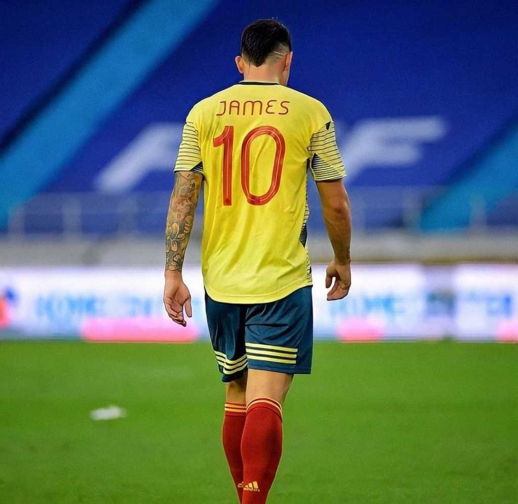 James Rodríguez con la Selección Colombia. Foto: Instagram
