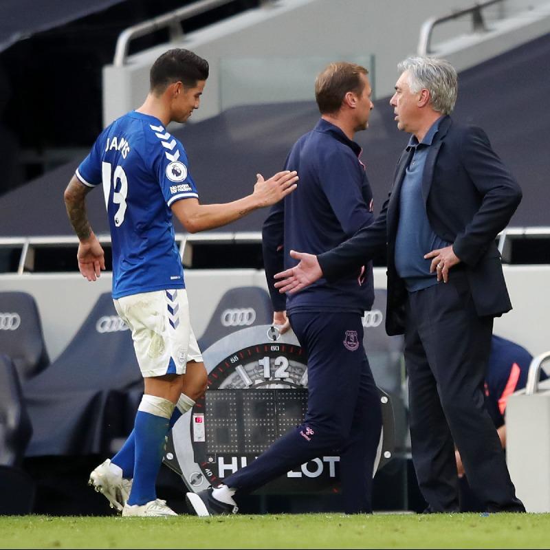 James Rodríguez teoría lesiones Everton Real Madrird