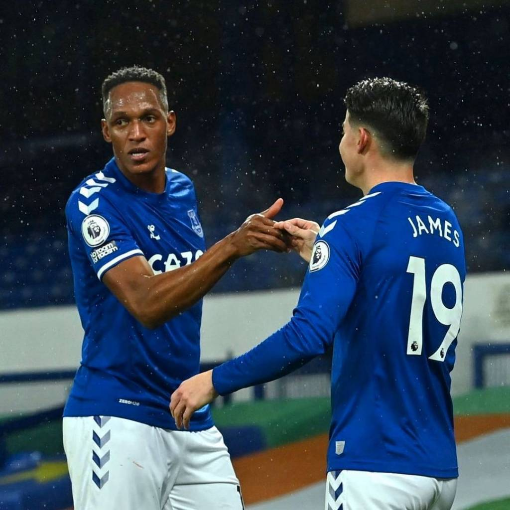 James Rodríguez Yerry Mina video Everton redes sociales