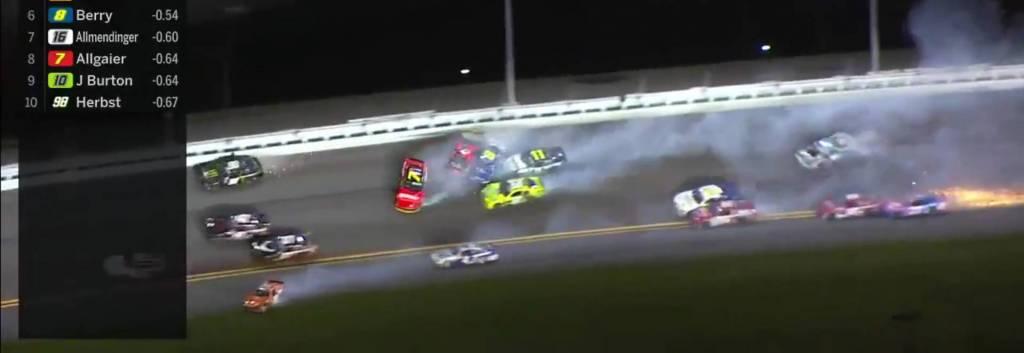 Daytona 2021 choque múltiplle