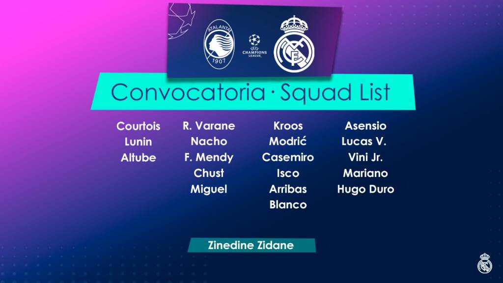 Real Madrid lista Zidane champions League
