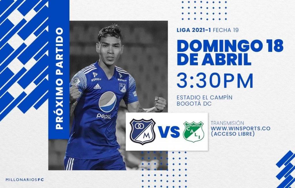 Win Sports partido Millonarios Deportivo Cali acceso libre