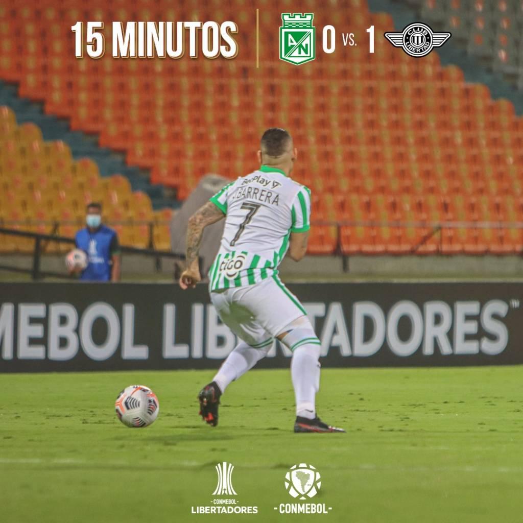 Libertad gol Atlético Nacional Copa Libertadores
