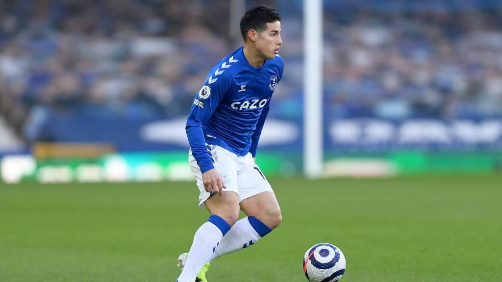 James Rodríguez resultado twitch Everton Tottenham