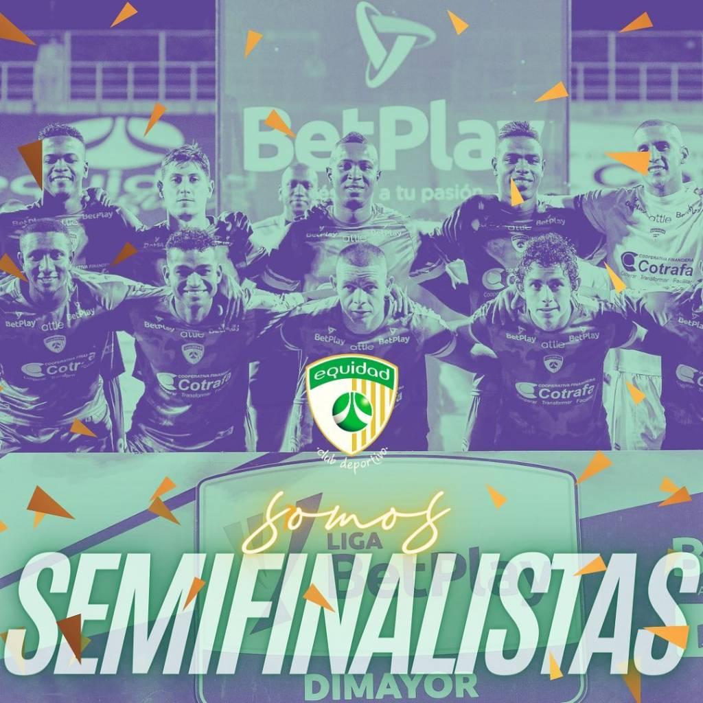 Equidad clasificar semifinal Atlético Nacional Liga BetPlay