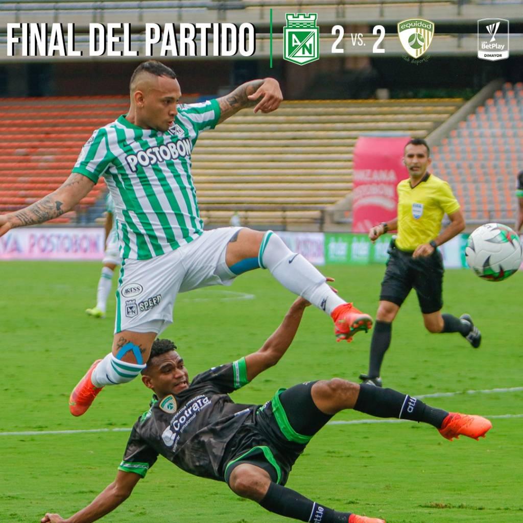 Atlético Nacional error clasificación Equidad Liga BetPlay