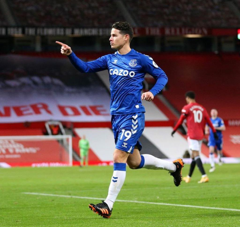James Rodríguez fisioterapeuta Everton lesión