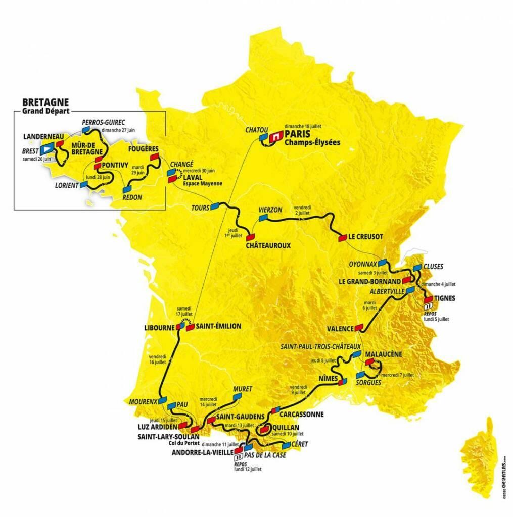 Tour de Francia 2021 donde ver  ciclistas colombianos cronograma de etapas