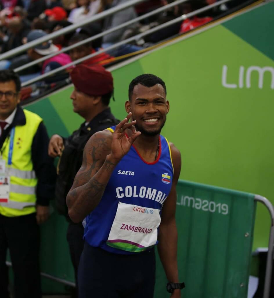 Anthony Zambrano durante los Juegos Panamericanos de 2019