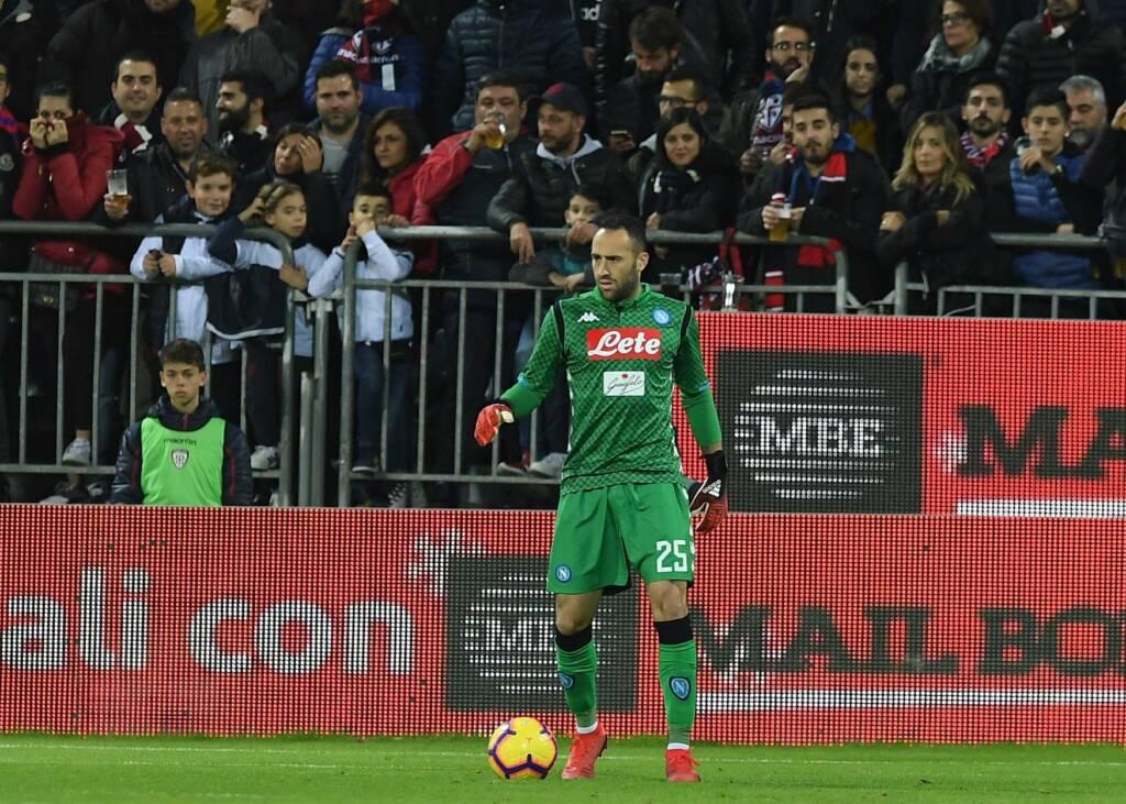 David Ospina durante un partido con el Napoli