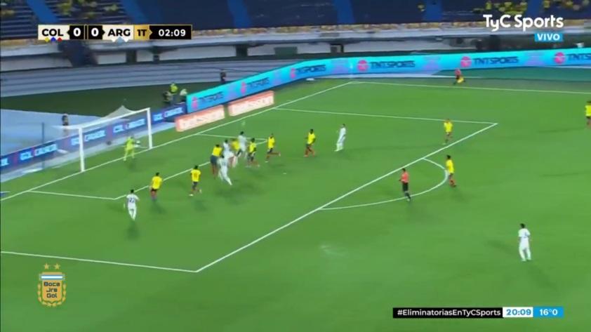 El gol de la Selección Argentina ante Colombia