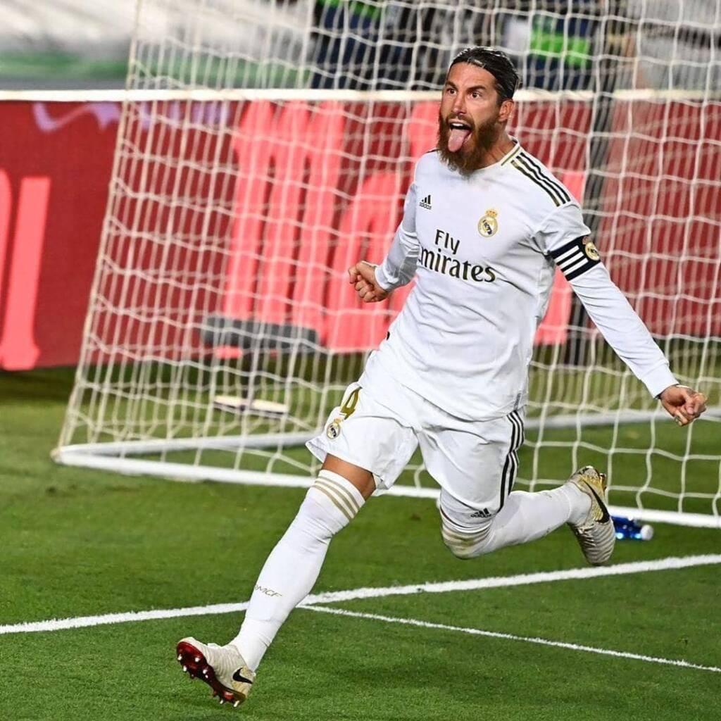 Sergio Ramos durante un partido con el Real Madrid