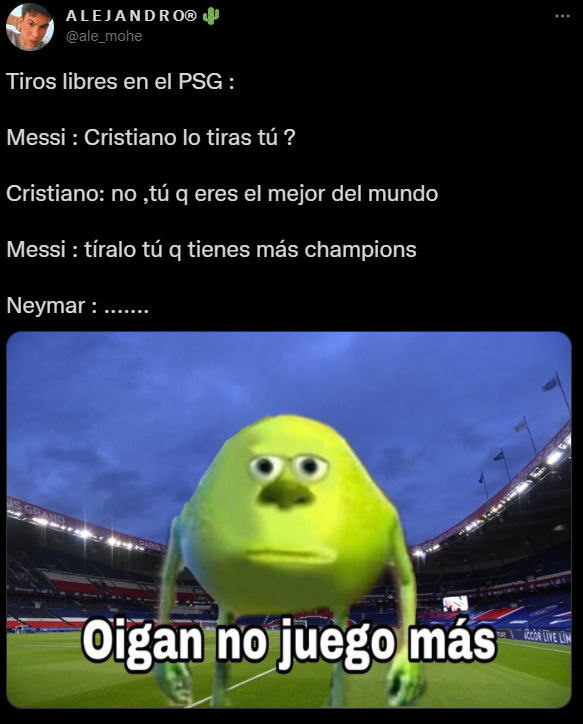 Cristiano Ronaldo memes PSG Messi